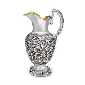-ROSE REPOUSSE PITCHER 12.5