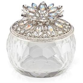 "_ELEGANT CRYSTALLINE KEEPSAKE BOX. 2.75"" WIDE. MSRP $167.00 MADE BY LENOX"