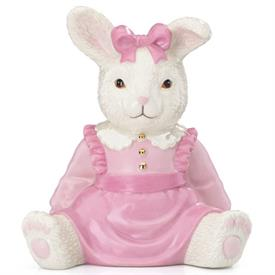 "_MY GIRL BUNNY BANK. 6"" TALL. MSRP $84.00"