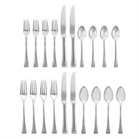 -20-PIECE SET. INCLUDES FOUR 5-PIECE PLACE SETTINGS. DISHWASHER SAFE. BREAKAGE REPLACEMENT AVAILABLE. MSRP $258.00