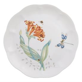"-DRAGONFLY ACCENT PLATE. 9"" WIDE. DISHWASHER & MICROWAVE SAFE. BREAKAGE REPLACEMENT AVAILABLE. MSRP $25.00"