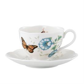 _TEA CUP & SAUCER, MONARCH BUTTERFLY