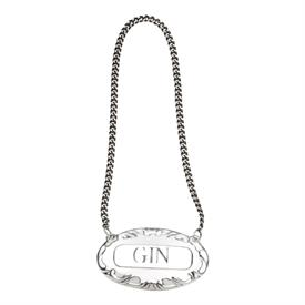 -GIN LABEL STERLING SILVER