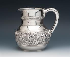",Water Pitcher weight 27.65 troy ounces Olympian Tiffany Sterling Silver 7.2"" tall Nice piece!"