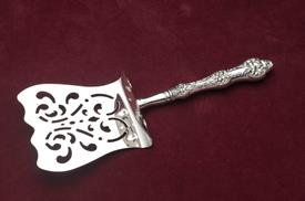 ,_HH HOODED ASPARAGUS SERVER. STERLING HANDLE, STAINLESS FLAT SERVER. RETAIL VALUE $675