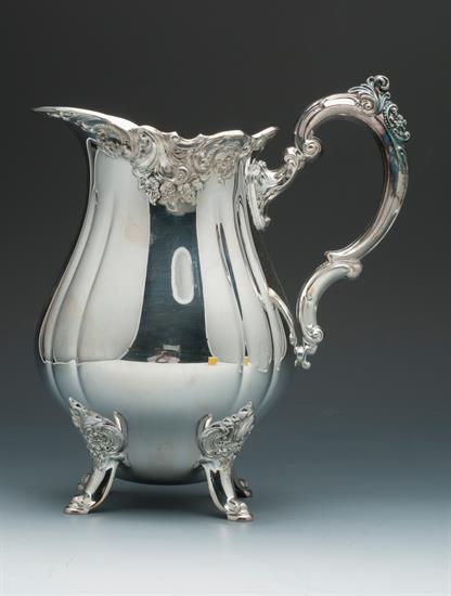 """WATER PITCHER BAROQUE SILVER PLATED BY WALLACE 9.5"""" TALL"""