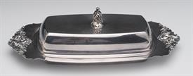 """COVERED BUTTER DISH GRANDE BAROQUE SILVER PLATED 9""""LONG BY 4"""" WIDE"""