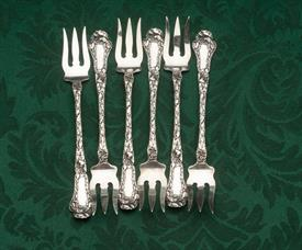 ,OYSTER FORK / COCKTAIL FORK SET OF 6. EACH MEASURES 5 5/8""