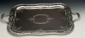 ",ST. JAMES BY HIRSCH STERLING SILVER WAITER TRAY IN BEAUTIFUL CONDITION 9 OUT OF 10 MEASURES 29.5"" LONG  X 18.5"" WIDE 133.55 TROY OUNCES"