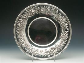 ",COOKIE TRAY 14.35 TROY OUNCES 10"" DIAMETER KIRK REPOUSSE STERLING SILVER #727 GOOD CONDITION 8 OF 10"