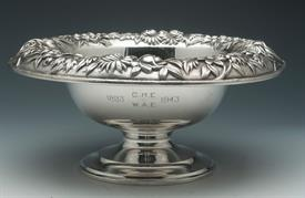",PEDALSTALED BOWL 16.45 TROY OUNCES KIRK REPOUSSE STERLING SILVER 9.5"" DIAMETER AT TOP 4.25"" TALL"