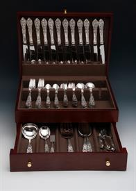 ,.78 Piece Set Dinner Size of Richelieu by International Sterling Silver includes a brand new silver chest by Wallace