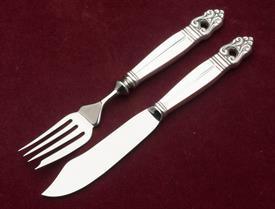"FISH KNIFE AND FORK SET HANDLE 3.75""  STAINLESS BLADE"