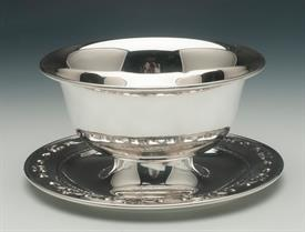 ",MAYONAISE SERVING DISH STRASBOURG BY GORHAM STERLING 6.25"" DIAMETER BY 3.1"" TALL"
