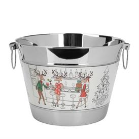 ,-REINDEER BEVERAGE TUB. STAINLESS STEEL. HAND WASH ONLY. MSRP $150.00