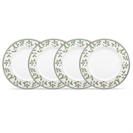 -SET OF 4 HOLIDAY ACCENT PLATES, 9""