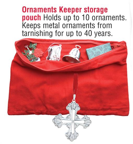 ORNAMENT PROTECTOR. AVAILABLE IN RED OR GREEN (YOU CAN REQUEST A COLOR BUT IT IS NOT GAURANTEED). HOLDS 10 ORNAMENTS.
