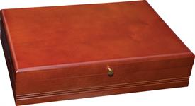 "_,62C TAUNTON CHERRY SILVERWARE CHEST 16"" X 11.5"" X 4"" HOLDS UP TO 132 PIECE MADE BY REED & BARTON - VERY GOOD QUALITY"