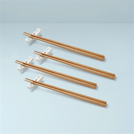 -SET OF 4 CHOPSTICK PAIRS WITH STANDS. MSRP $43.00