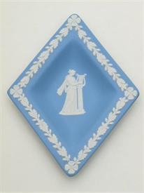 BLUE/WHT DIAMOND DISH