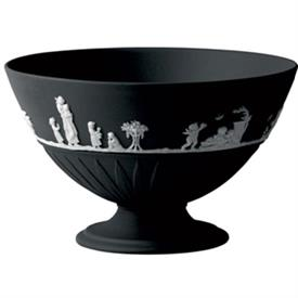 -FOOTED BOWL WH/BLACK