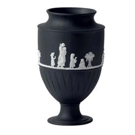-LARGE VASE WH.ON BLAC