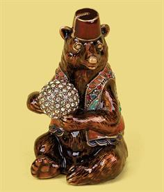,-7886/1 RUSSIAN CIRCUS BEAR PAPERWEIGHT